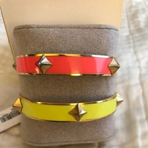 Gold-tone Studded Embellished Bangle Bracelet